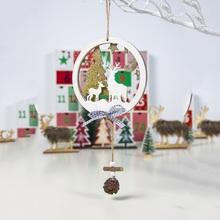 Get more info on the Wood Cutout Hanging Sign Ornaments Round Star Christmas Pendants Decorative Xmas Tree Holiday Party SuppliesCM