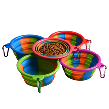 Travel Bowl Pet-Accessories Food-Container Dog-Feeder Foldable Collapsible Silicone 1PC