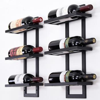 Żelazny stojak na wino ściana wisząca kreatywna stojak na butelki do wina uchwyt prosty pojemnik na wino wino wsparcie Botellero 2-6 butelek tanie i dobre opinie OTAUTAU CN (pochodzenie) Na stanie Ekologiczne 4F 6F 8F 10F 12F 16F(If you need12F 16F please contact us)