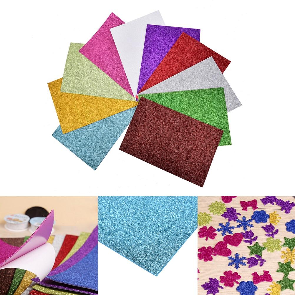 10pcs Flash Thick Sponge Paper With Rubber Powder EVA Foam Paper DIY Paper Craft Scrapbooking Paper Origami Colored Decor 4