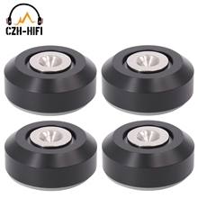 4pcs 46x20mm CNC Machined Solid Aluminum Isolation Pad Mat For Audio Speaker Turntable DAC Amplifier Shockproof Spike Cone Feet
