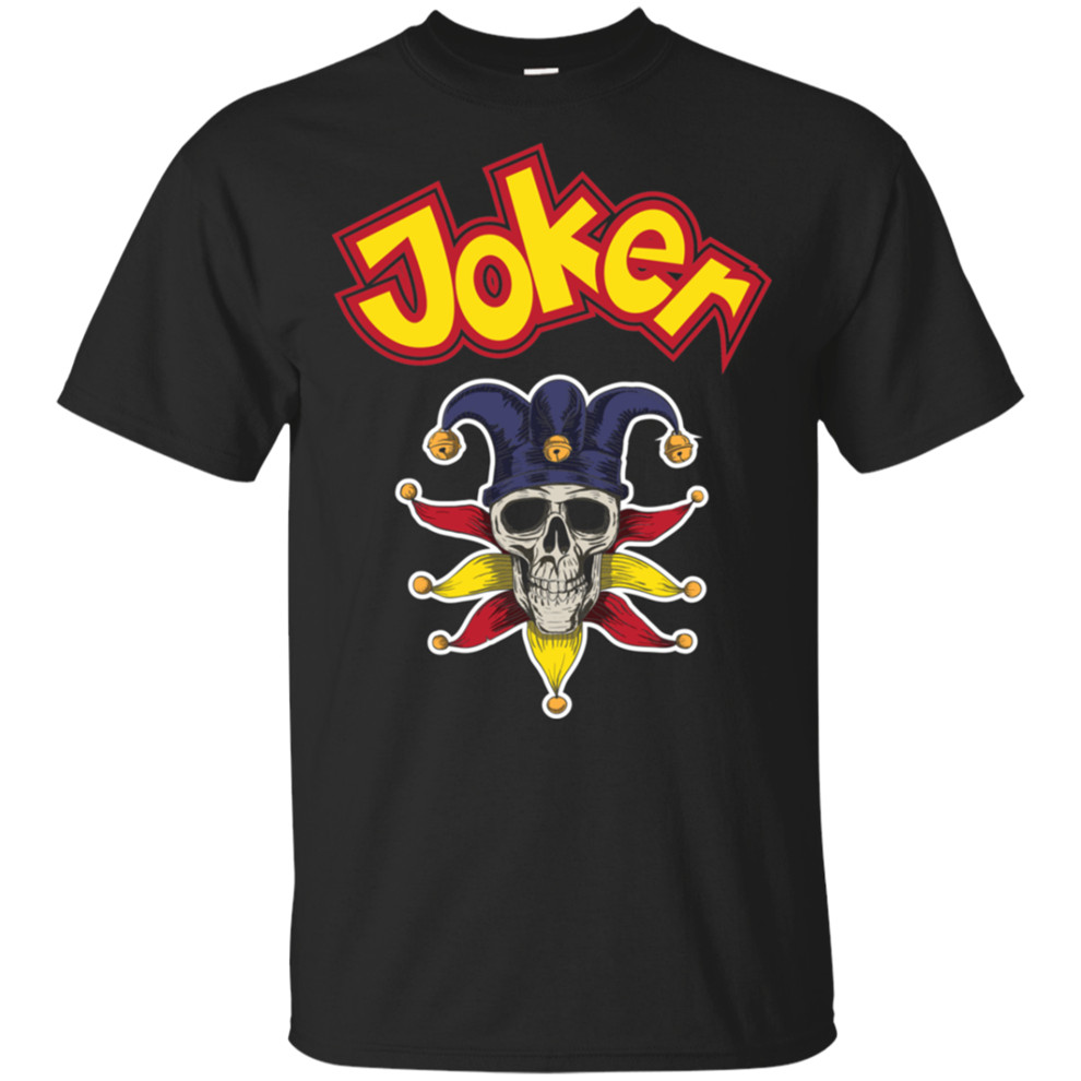Cool Joker Or Comedians Halloween 2019 Gift Classic T-Shirt Black-Navy Men-Women Custom Screen Printed Tee Shirt image