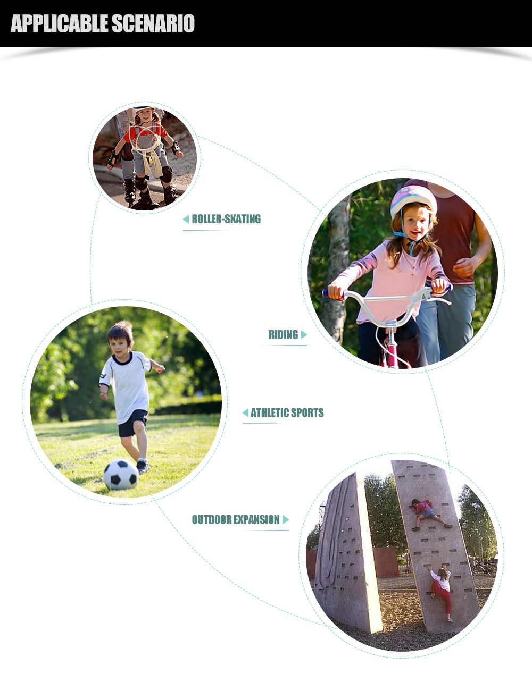 男の子の女の子ハーフフィンガーバイクの手袋年齢 3-10 子供アウトドアスポーツ手袋サイクリングに最適、乗馬、登山、スクーター