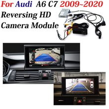 AUTO CAM อะแดปเตอร์ถอดรหัสรถกล้องด้านหลังสำหรับ Audi A6 (C7) 2009 ~ 2020 Original 8 นิ้วการอัพเกรดระบบช่วยจอดรถ