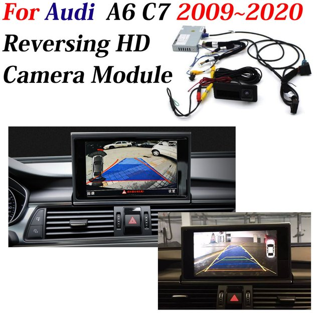 AUTO CAM Decoder Adapter Car Rear Camera For Audi A6 (C7) 2009~2020 Original 8 inch Display Upgrading Parking Assist System