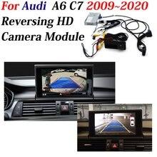 AUTO CAM adapter do dekodera kamera cofania samochodu dla Audi A6 (C7) 2009 2020 oryginalny 8 cal wyświetlacz modernizacji asystent parkowania System
