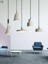 Post Modern Designer Terrazzo Cement Pendant Lights Led Kitchen Hanging Lamps Decor Salon Dining Room Coffee Bar Bedside Study