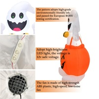 4 FT Tall Halloween LED Lighted Inflatable Pumpkin Ghost lamp Party Decoration lantern For Halloween party