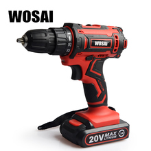 WOSAI New 20V Cordless Drill Electric Screwdriver Mini Wireless Power Driver DC Lithium-Ion Battery 3/8-Inch 2 Speed 4.8 28v max electric screwdriver cordless drill mini wireless power driver dc lithium ion battery with 2 lithium battery