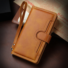 For iphoen se 2020 Case Leather Wallet Leather Flip Multi-card slot Cover for iphone 11 Pro Max X XR XS Max 8 7 6 6s Plus Case flip case for iphone 7 case wallet multi cards 360 full protect classic pu leather bags for iphone 5s se 6s 7 8 plus x xr xs max