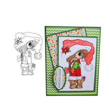 Transparent Stamps Girl Christmas Clear Stamp Rubber Silicone Scrapbooking for Card Making Album Craft Decor New 2020 Stamp au1212 austria 2012 christmas maria sarkozy altar painting stamp 1 new 1206