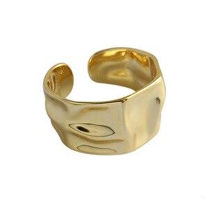 Image 1 - 925 Anillos de Plata esterlina Irregular ajustable Para Mujer, anillo de Corea hecho a mano, Anillos de Plata 925 Para bisutería Para Mujer, joyería 2019