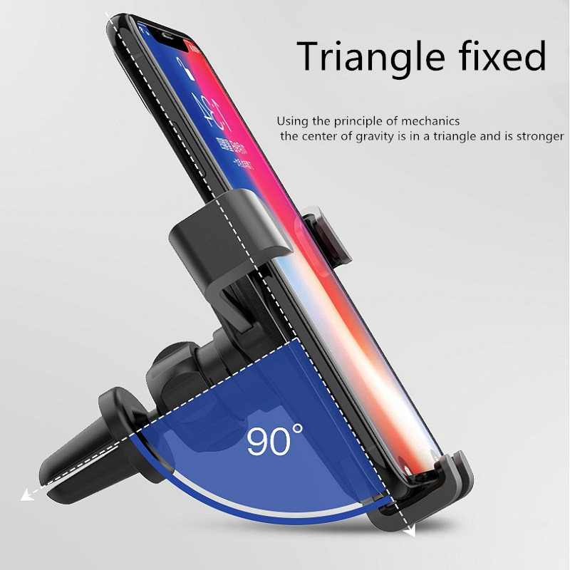 Vanniso Car Phone Holder Windshield Mount Holder For iPhone X 7 8 Titular Car Air Vent Mobile Phone Car Holder Stand For Phone in Phone Holders Stands from Cellphones Telecommunications