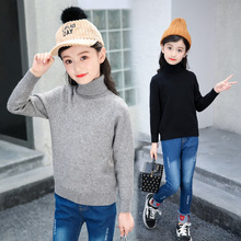 Baby Girls Winter Turtleneck Sweater Colthes 2019 Autumn Boys Children Clothing Pullover Knitted Solid Kids Sweaters