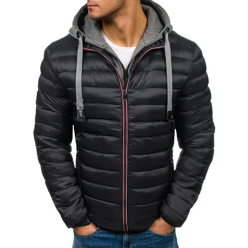 SHUJIN Winter Jacket Men Hooded Coat Causal Zipper Men's Jackets Parka Warm Clothes For Men Streetwear Clothing Winter Coat