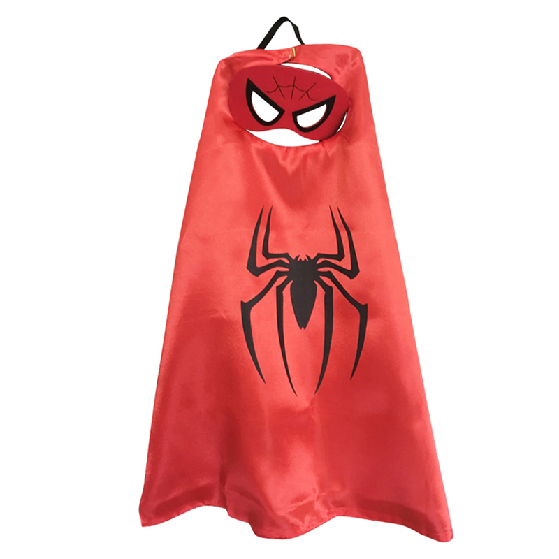 Superhero Capes with Mask Boys Girls Birthday Party Favor Dress Up Halloween Costumes Anime Cosplay 2