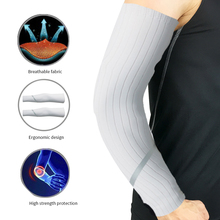 1 Pairs Unisex Cooling Arm Sleeves Cover Cycling Running UV Sun Protection Outdoor Men Nylon Cool Arm Sleeves for Hide Tattoos