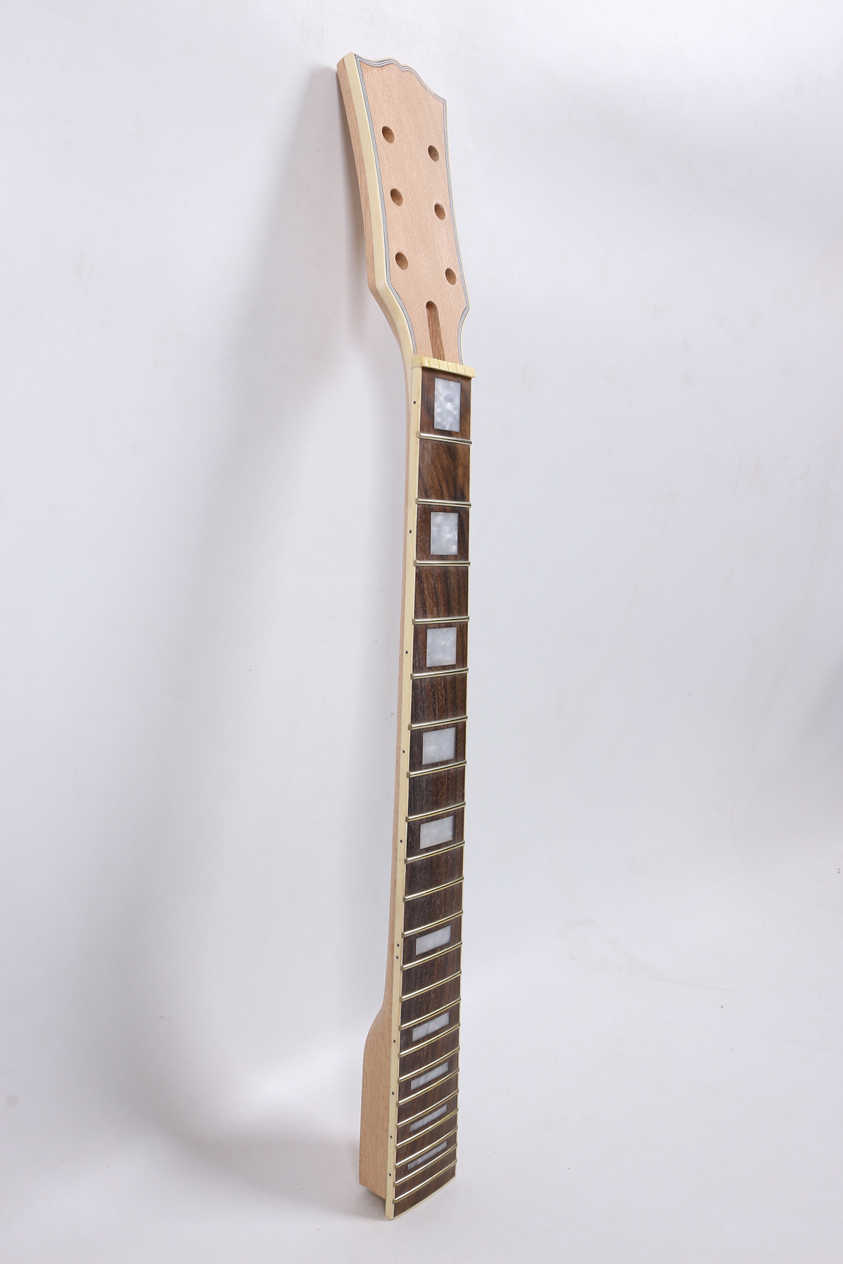 5 Line Binding 24.75 Inch 1 Pcs     Electric Guitar Neck Mahogany Made   Rose   Wood FretBoard 22 Fret 001#