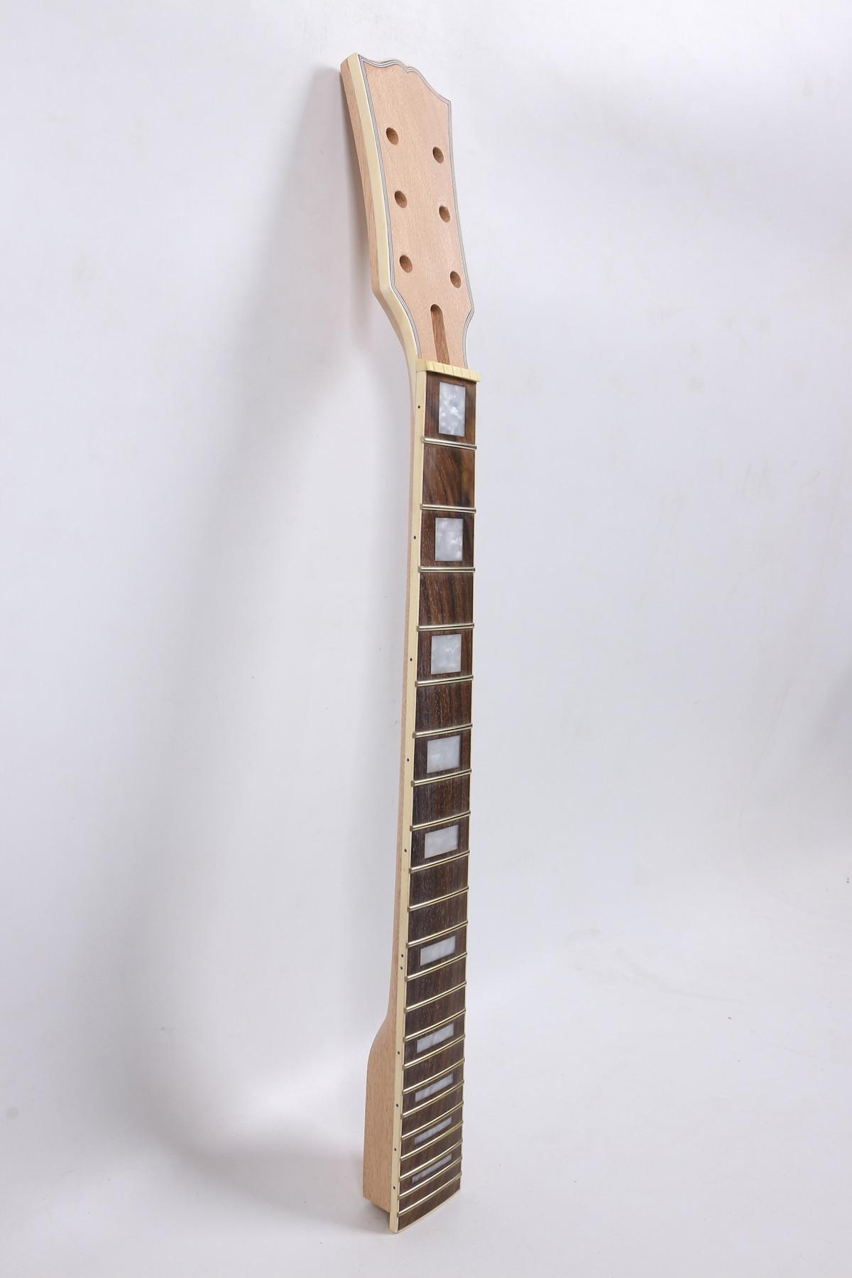 5 Line Binding 24.75 Inch 1 Pcs     Electric Guitar Neck Mahogany Made   Rose   Wood FretBoard 22 Fret 001#