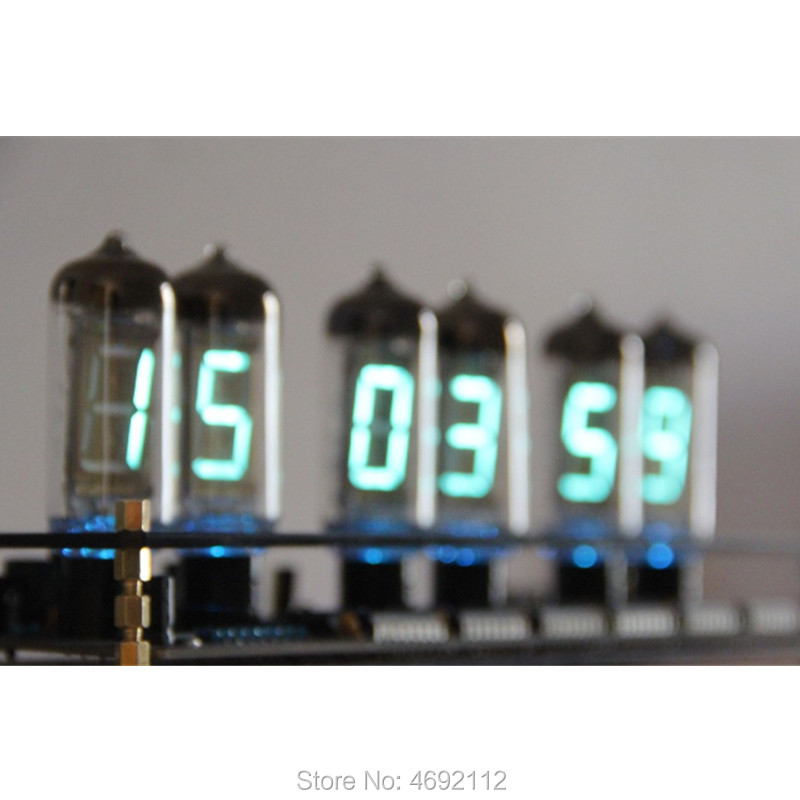 크리 에이 티브 유리 선물 IV11 형광 튜브 시계 VFD DIY 키트 남자 친구 선물 아날로그 글로우 튜브 iv-11