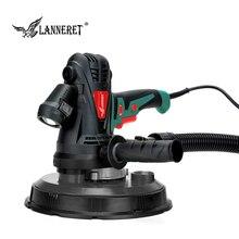 LANNERET электрический шлифовальный станок для гипсокартона, полировальная машина для стен 1280 Вт/850 Вт, шлифовальный станок для сухих стен, полировщик с переменной скоростью, светодиодный светильник без пыли