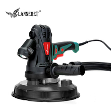 LANNERET Electric Drywall Sander Wall Polisher Machine 1280W / 850W Dry Wall Sander Polisher Variable Speed LED Light Dust Free 1000w double head wall sander drywall sander wall surface grinding machine long neck polishing sander ceiling sander 2018