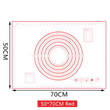 Large Size Non_Stick Silicone Baking Mat Reusable Cake Tool 80*60CM /70*50CM/60*60CM /60*50CM/50*40