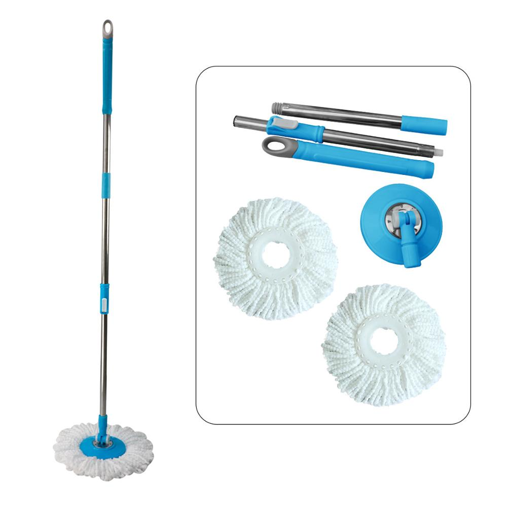 1Set Spin Mop Pole Handle Replacement for Floor Mop 360 No Foot Pedal Version Home Floor Cleaning Scraper for Home Office