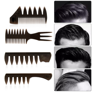 Hot New Wide Teeth Hairbrush Fork Comb Men Beard Hairdressing Brush Barber Shop Styling Tool Salon Accessory Afro Hairstyle(China)