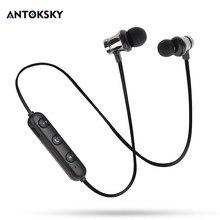 Antoksky XT11 מגנטי Bluetooth אוזניות ספורט ריצה אלחוטי Bluetooth אוזניות עבור IPhone 6 6S 8X7 Xiaomi ידיים משלוח