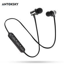 Buy Antoksky  XT11 Magnetic Bluetooth Earphone Sport Running Wireless Bluetooth Headset For IPhone 6 6S 8 X 7 Xiaomi Hands Free directly from merchant!