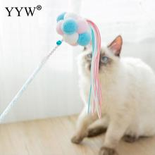 1pcs Creative Pet Cat Toy Teaser Kitten Teasing Stick Fairy Ball Bell Tassels Interactive Funny Supplies