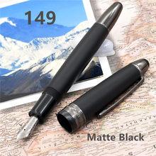 Alta qualidade de luxo mb marca caneta 149 preto fosco classique caneta/rolo canetas bola/esferográfica canetas opção presente canetas