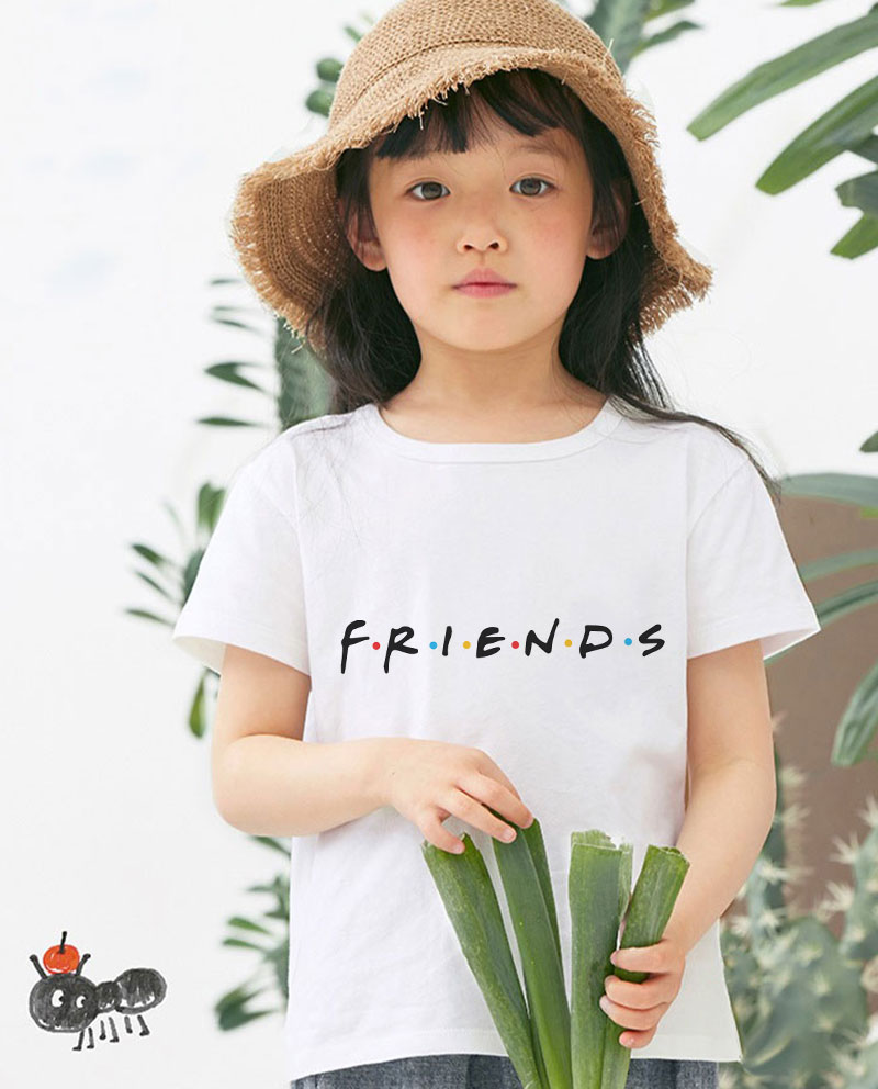 New Shelves Kawaii Girl Tshirt Children Best Friends Donut Hamburg Boys T Shirts Casual Tee Shirt Cute Kids T Shirt Aesthetics image