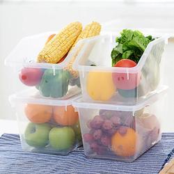 Duże przezroczyste pojemniki do kuchni do jedzenia pojemniki do przechowywania owoców warzywa schowek Case lodówka Organizer pojemnik na zboże w Butelki  słoiki i pudełka od Dom i ogród na
