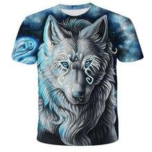 Los amantes de Lobo estampado T camisas hombres 3d camisetas de la nave de la gota Tee Top manga corta Camiseta cuello redondo C