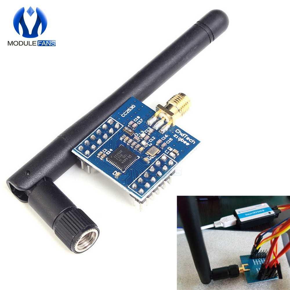 Sem fio zigbee cc2530 cc2531 cc2540 cc2541, placa natural analisador smartrf04eb módulo placa de desenvolvimento, kit antena