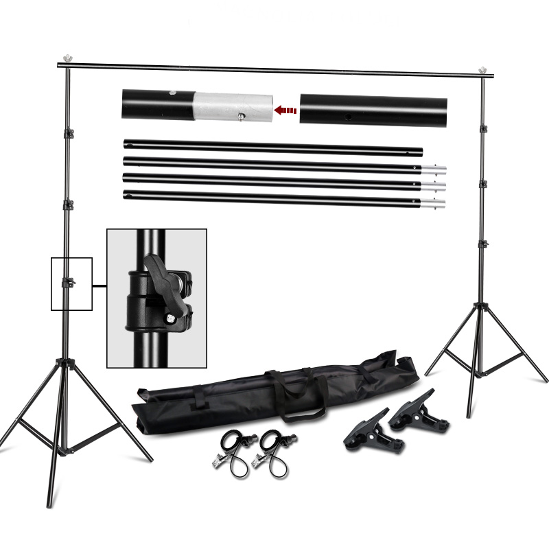 Photography Background Stand Support System Kit for Photo Studio 