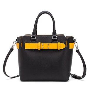 Image 1 - MIYACO Bolso de mano de piel suave para mujer, bolsos de calidad con asa, informales, con cinturón