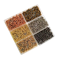 1200 Pcs Map Tacks Push Pins, with Round Plastic Head and Steel Point Thumb Tacks Pin Office School with Plastic Box