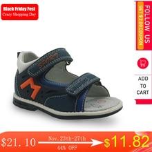 Apakowa marca crianças sapatos novos 2018 verão meninos sandálias de couro do plutônio plana sapatos para meninos da criança do bebê ortopédico sandálias