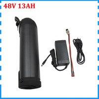 48V 13ah Wasser Flasche ebike batterie 48V lithium-batterie 13AH fit Bafang BBS02 750W 20A BMS 54 6 V 2A Ladegerät Freies gewohnheiten duty