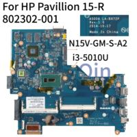 KoCoQin Laptop moederbord Voor HP Pavilion 15-R 250 G3 I3-5010U N15V-GM-S-A2 Moederbord 802302-001 802302-601 ASO56 LA-B972P