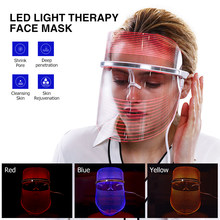 Facial Beauty Tools 3Colors Photother LED Light Therapy Face Mask Anti Acne Skin Rejuvenation Removal USB Face Spa Instrument(China)