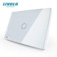 Công tắc cảm ứng Livolo Ứng tiêu chuẩn MỸ Trắng Thủy Tinh Pha Lê Bảng, AC110 ~ 250V, ĐÈN LED chỉ thị, HOA KỲ Cảm Ứng Màn Hình Chuyển Đổi VL C301 81