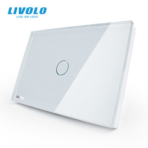 Image 1 - Livolo Touch Switch US standard White Crystal Glass Panel, AC110~250V, LED indicator, US Light Touch Screen Switch VL C301 81