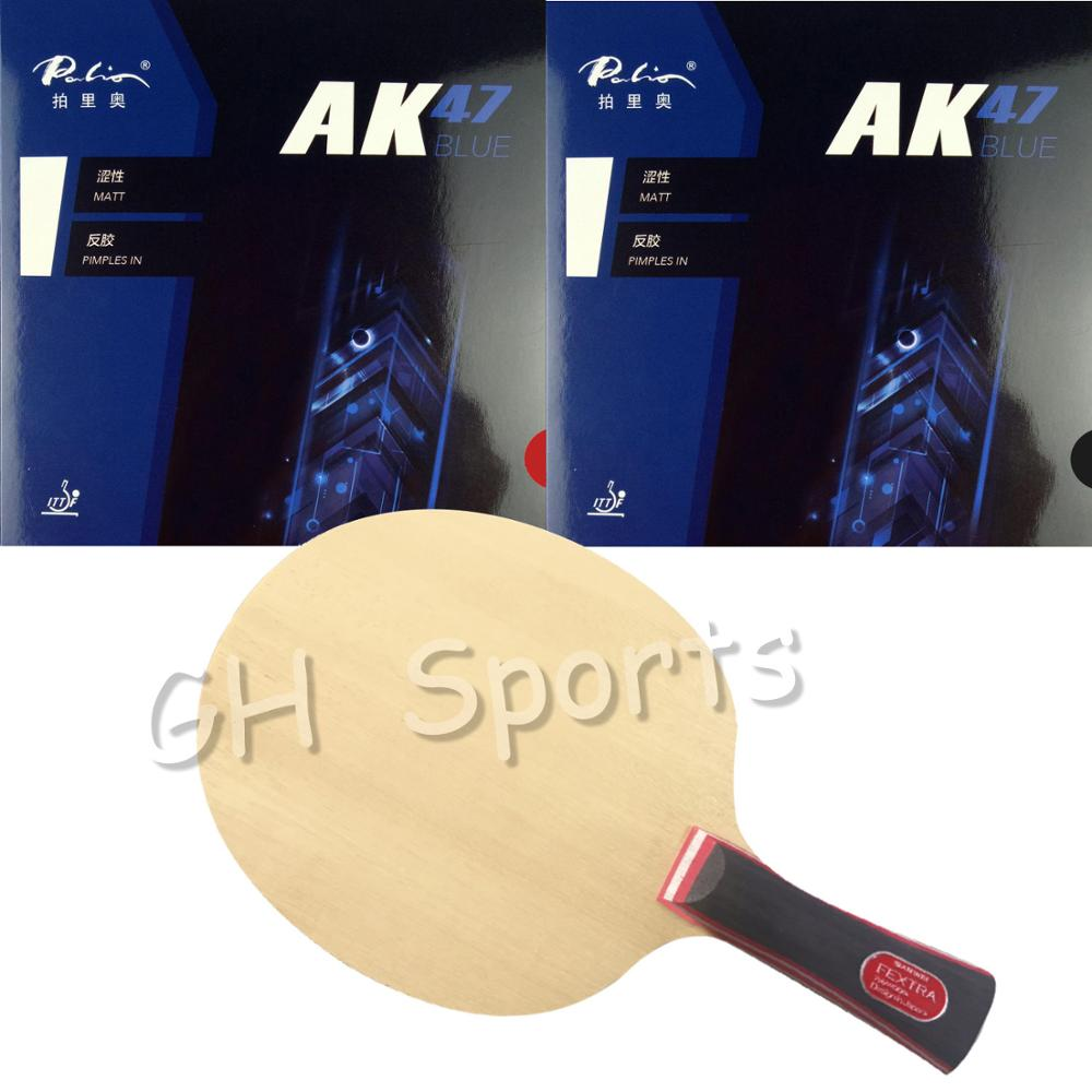 Sanwei FEXTRA 7 (Nordic VII) With Palio AK47 Blue Professional Table Tennis Blade With Rubbers Quality Finished Racket
