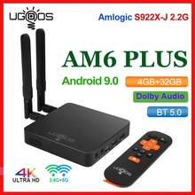 UGOOS AM6 Plus TV caja Android 9,0 Amlogic S922X-J DDR4 4GB 32GB 5G WiFi 1000M BT5.0 OTT 4K AM6 Pro reproductor de medios Dolby Atmos(China)