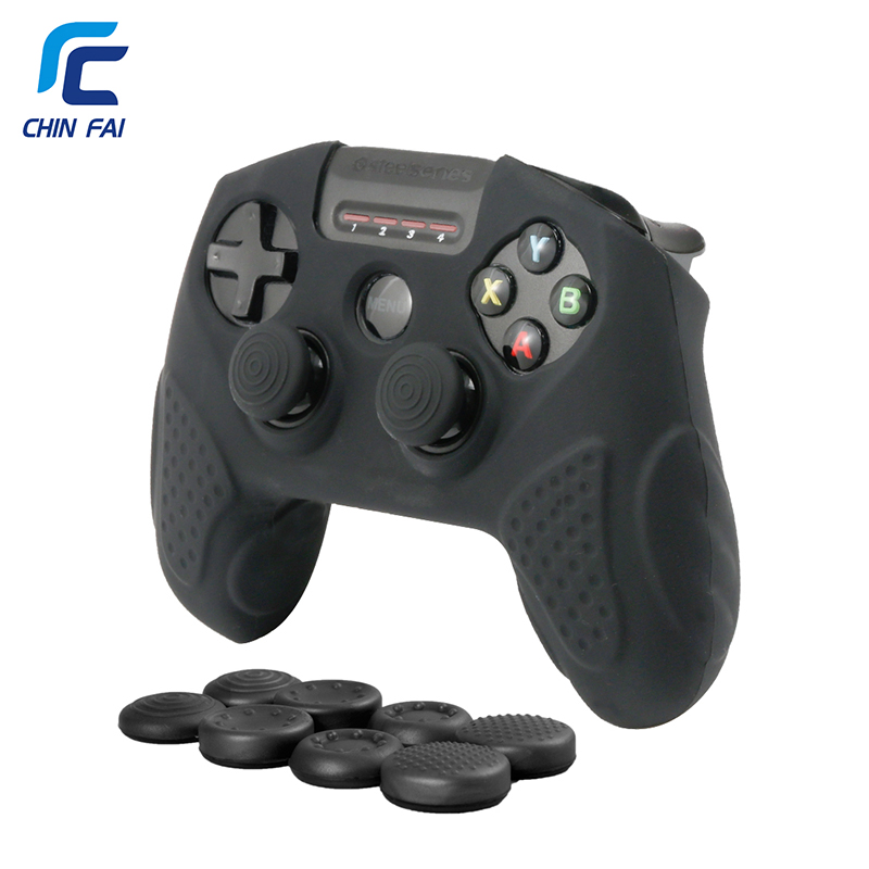 CHINFAI Silicone Odorless Case For SteelSeries Nimbus Wireless Controller Anti-slip Skin For SteelSeries Nimbus With Thumb Grips
