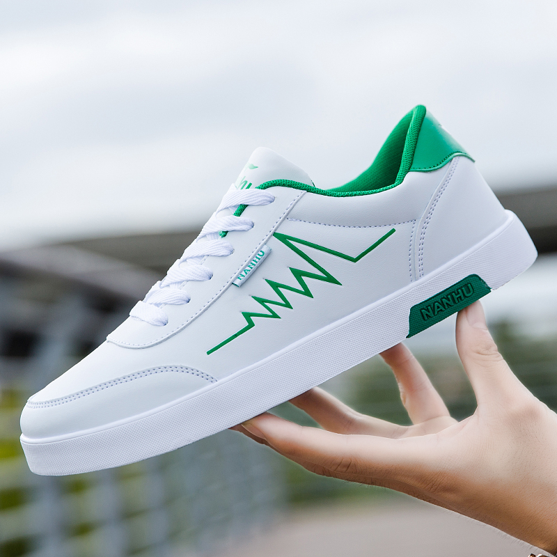 High Quality Brand Men Casual Shoes Hot sale Spring Autumn Casual Shoes Men Breathable Fashion Green Red Casual Men Shoes White 2